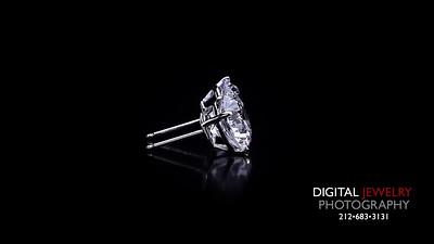 Large Round Diamond Stud Solitare Earrings