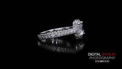 Asscher Cut Diamond Halo Pave Ring 03