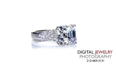 Ascher Cut Pave Diamond Ring on White_1