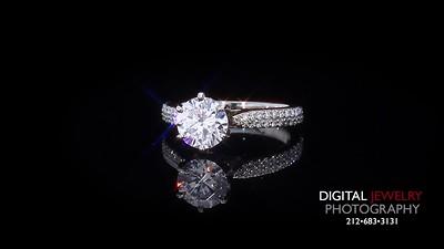 Round Diamond Ring Melee Stone 03