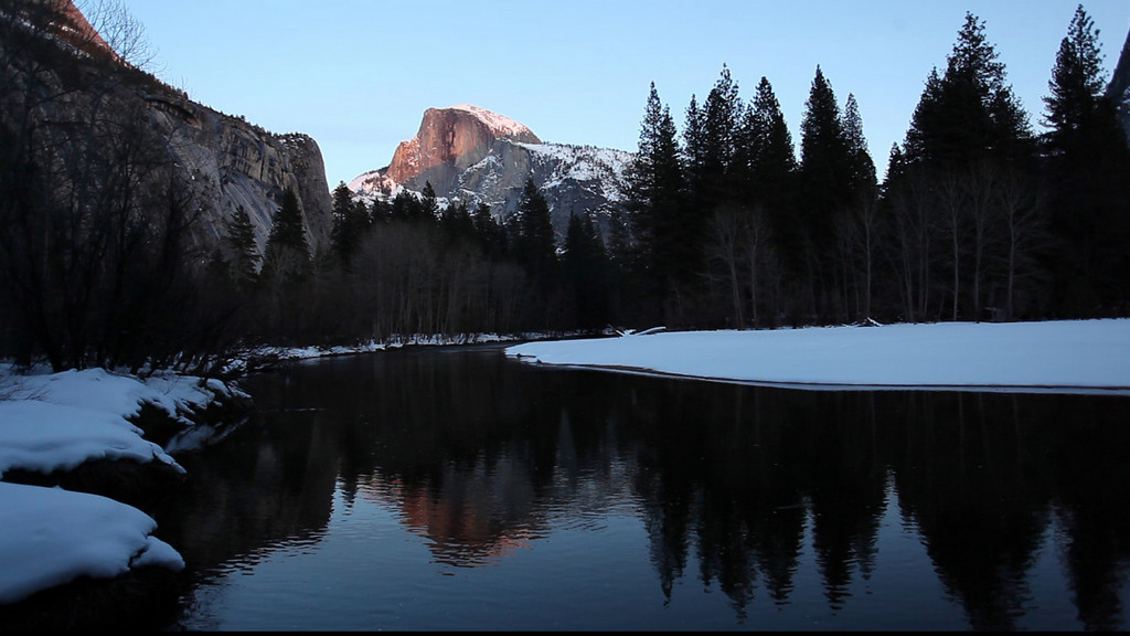 Last Light on Half Dome and the Merced River on a Winter's Evening 1.31.2010<br /> This is one of my favorite spots in Yosemite, you can usually capture some nice images in early morning and sometimes in the evening...I have several on my website from here... There are several picnic table's and it is usually very quit during the Winter months...