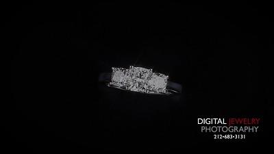 3 STONE Cushion Diamond Ring flyover