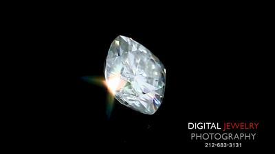 White Cushion Diamond