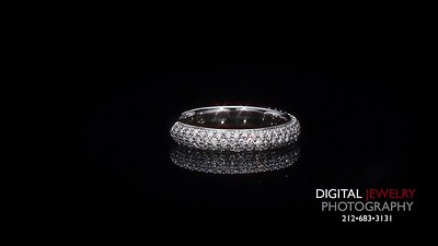 Pave Diamond Half Eternity Ring Band