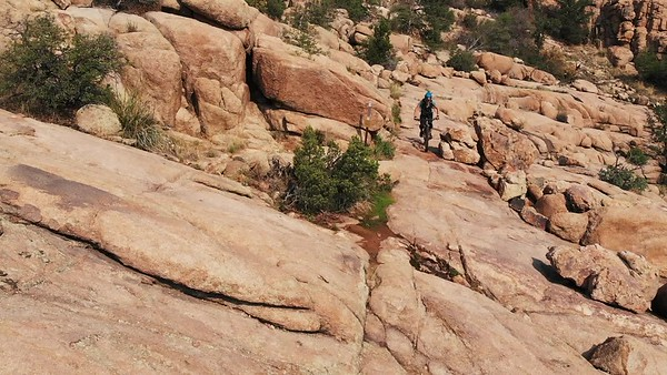 Aerial Capture: Granite Dells Mountain Bike