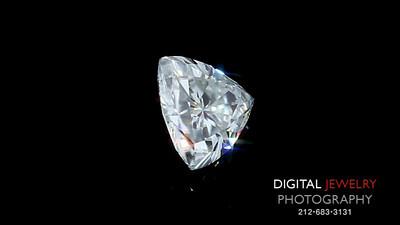 White Trillion Diamond