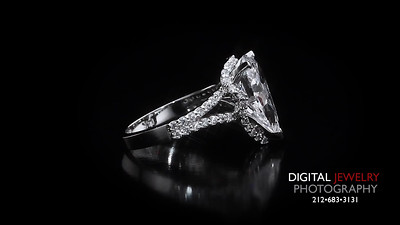Diamond Pear Halo Split Shank Ring 02