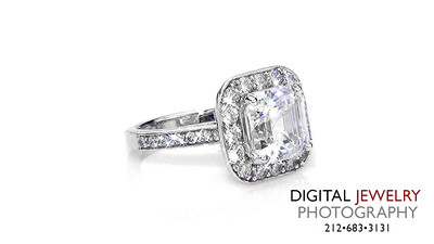 Ascher Cut Halo Diamond Ring on white 02_1