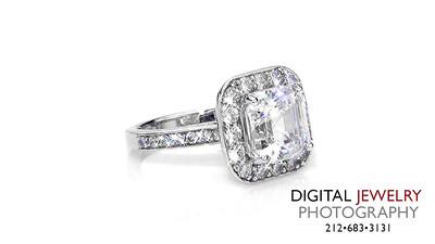 Ascher Cut Halo Diamond Ring on white 02_1