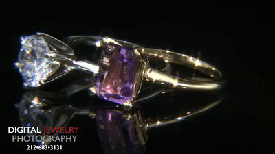 Diamond and Amethyt Rings On Black HD compressed