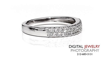 Diamond Eternity Band Pave on White 2 Row_1