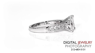Princess Cut Diamond Melee Ring On White 02_1