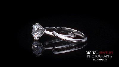 Round Diamond Solitaire Ring set with Band