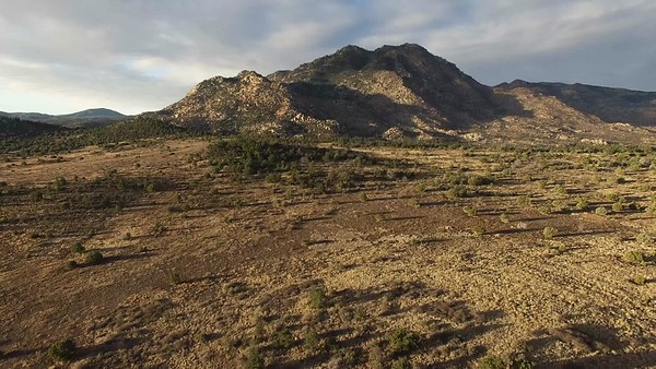Aerial Video: Approaching Granite Mountain from the East