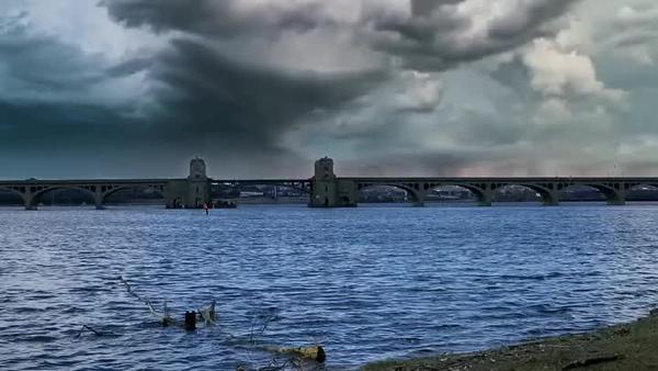 Patapsco river at Hanover st bridge