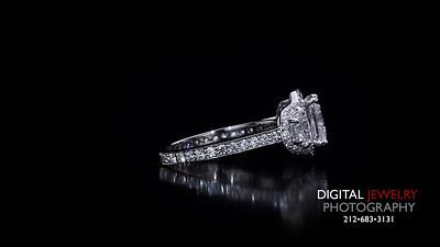Raidant 3 Stone Halo Diamond Ring Melee 03