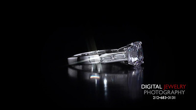 asscher cut and baguettes Diamond Ring