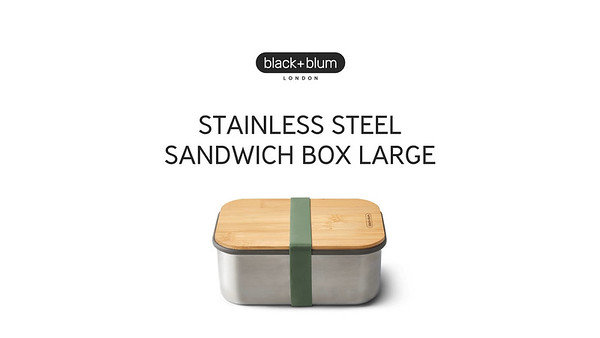 Stainless Steel Sandwich Box Large Black Blum