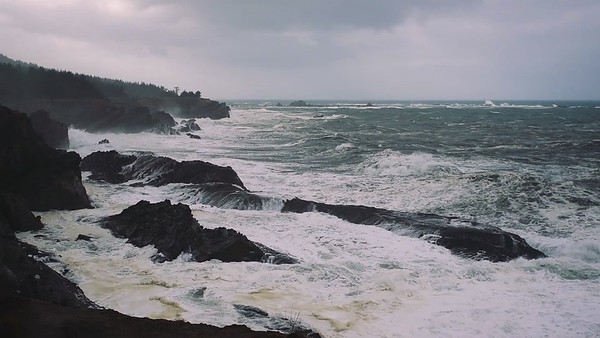Stormy Seas at Shore Acres