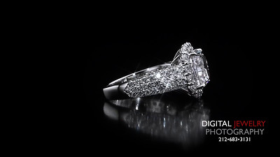 Cushion Cut Halo Pave Diamond Ring 03