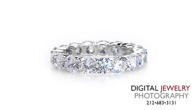Round Diamond Eternity Ring on white_1