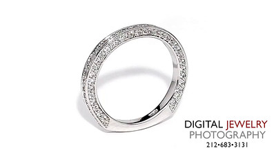 Diamond Eternity Band Pave on White_1
