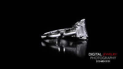 3 Stone Emerald Cut Diamond Ring 05