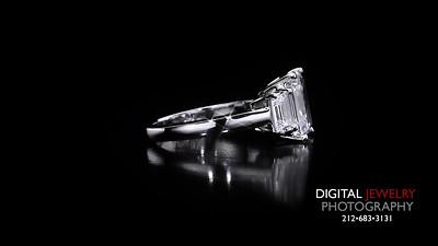 3 Stone Emerald Cut Diamond Ring 05