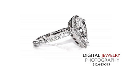 Pear Cut Diamond Halo Ring on White 02_1