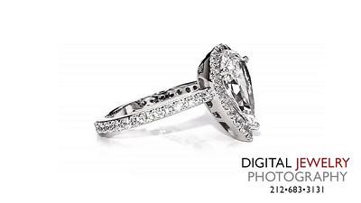 Pear Cut Diamond Halo Ring on White 02_1