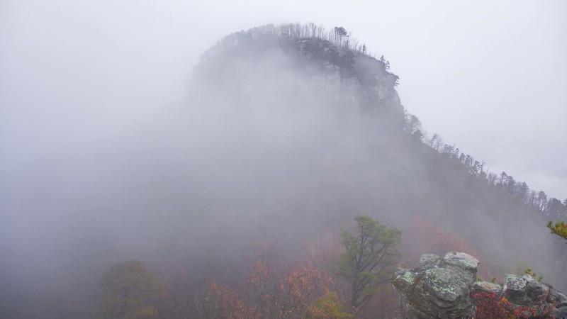 Colorful November at Pilot Mountain
