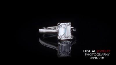 Emerald Cut Diamond Solitaire Ring 05