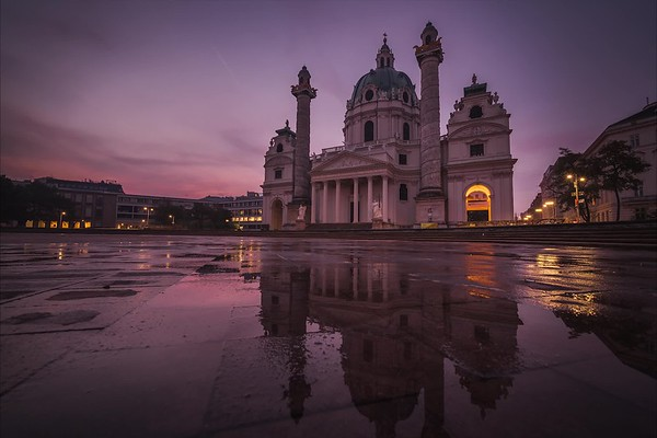 Sunrise at Karlskirche