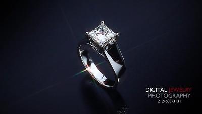 1 50ct Princess Diamond Solitaire Ring 006