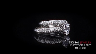 Round Diamond Pave Ring Set