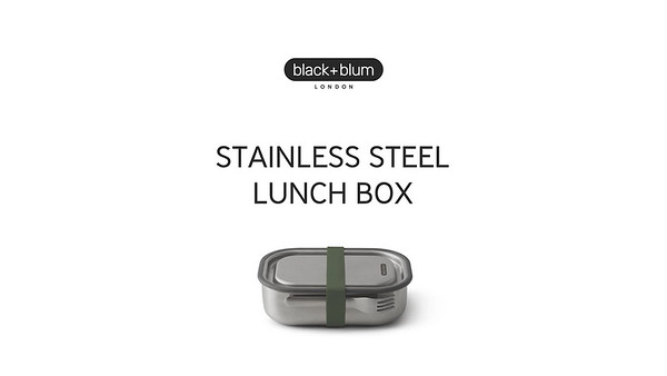 Stainless Steel Lunch Box Large Black Blum