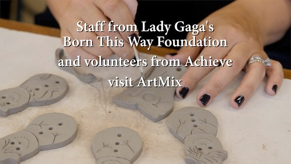 Lady Gaga BTW Visits ArtMix