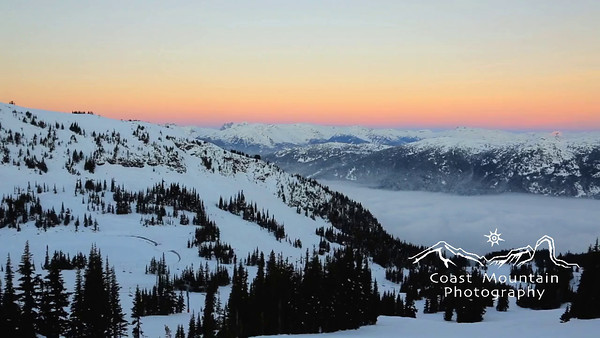 A pan over the valley at sunrise with an inversion. Stock video footage by Mitch Winton - coastphoto.com