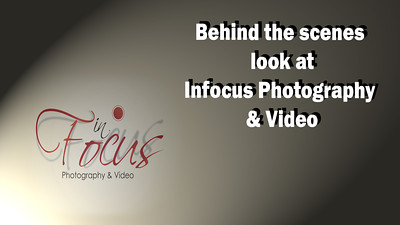 Behind the scenes portrait shoot at Infocus Photography & Video studio.