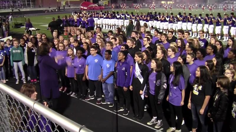 The Star Spangled Banner - CSHS, CSMS, WMS, Cypress Grove, & Pecan Trail Choir Programs 11/02/2018