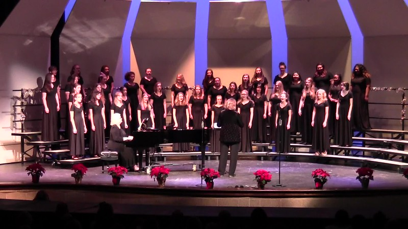 """Underneath the Tree"" - College Station HS Concert & JV Women's Choir 12/08/2016"