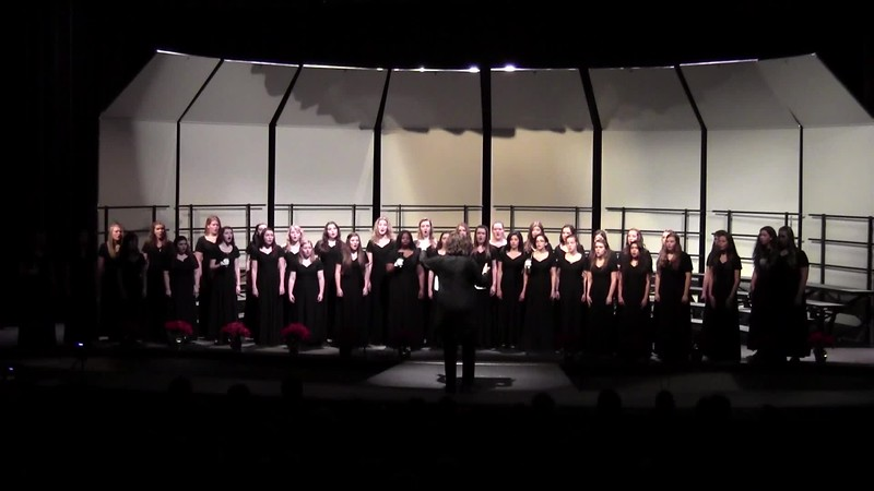 """Alleluia, Rejoice!"" - College Station HS Varsity & Chorale Women's Choir 12/11/2015"