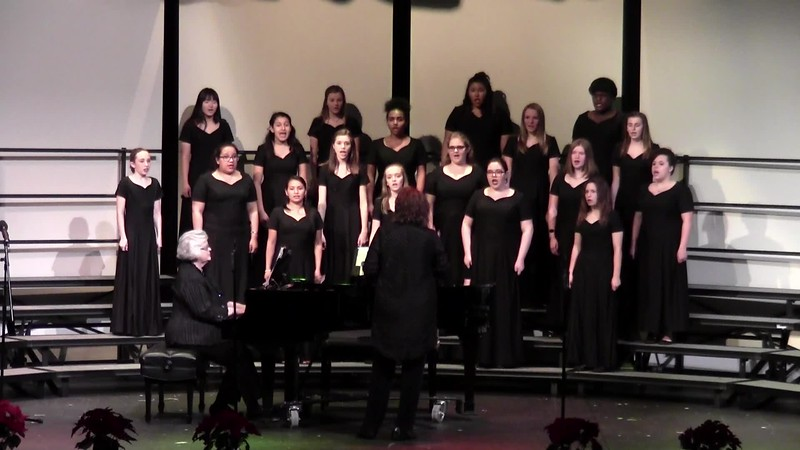"""""""It's Beginning to Look A Lot Like Christmas"""" - College Station HS Concert Women's Choir 12/11/2015"""