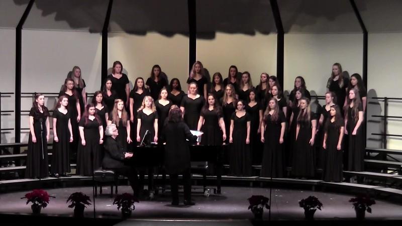 """""""Ose Shalom"""" - College Station HS Varsity & Chorale Women's Choir 12/11/2015"""
