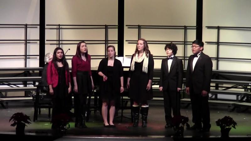 """Deck the Halls"" - College Station HS Choir Dynamaniacs 12/11/2015"
