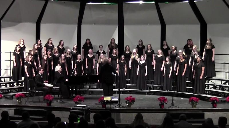 """Puer Nobis Nascitur"" - College Station HS Varsity & Chorale Women Choirs 12/14/2018"