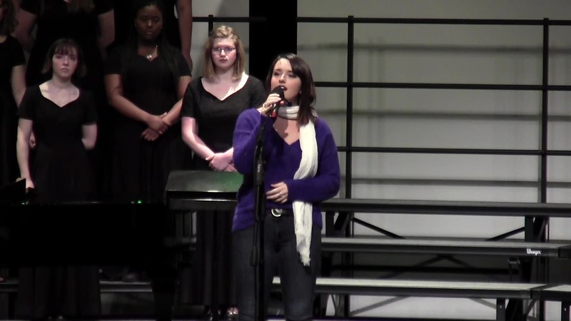 """I'll Be Home for Christmas"" - College Station HS Choir Alumna Soloist 12/14/2018"