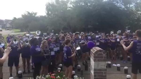 "2017 College Station HS Band & Guard March-A-Thon - ""Crazy Train"""