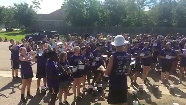 "2017 College Station HS Band & Guard March-A-Thon - ""Seven Nation Army"""