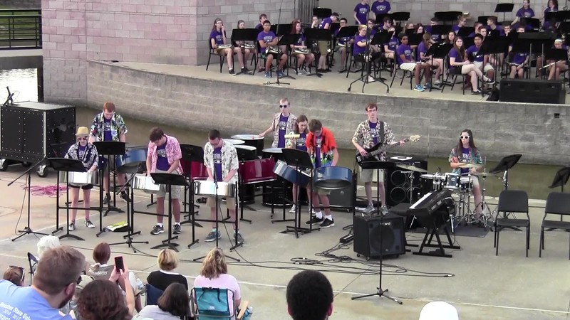 "College Station HS Cougar Steel Drums - ""Jump in the Line"""